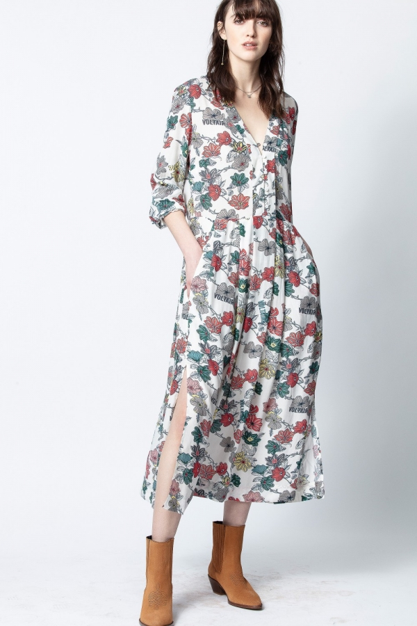 ROUX PRINT FLOWERS DRESS