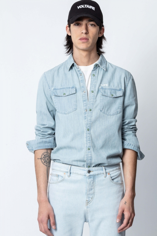SALA DENIM PHOTO PRINT SHIRTS
