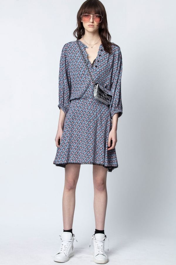 RASPALI PRINT ETOILES DRESS