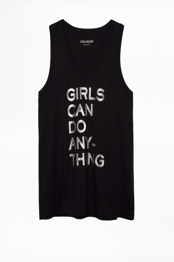 JAMY GIRLS CAN DO TANK TOP SLEEVELESS