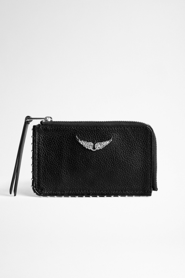 ZV CARD GRAINED LEATHER CARD HOLDER