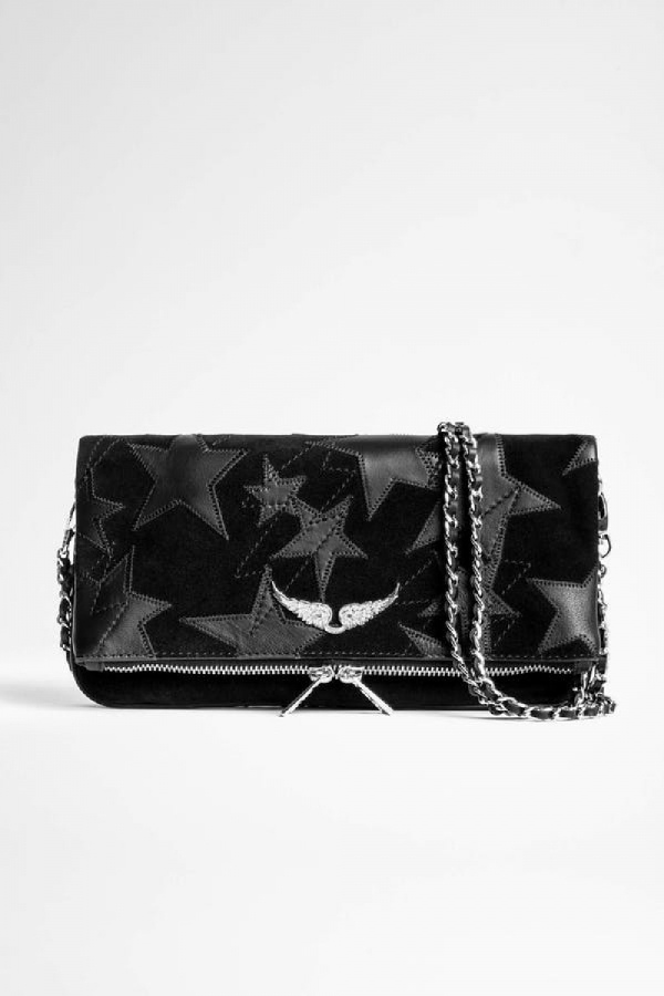 ROCK SUEDE STARS CLUTCH BAG